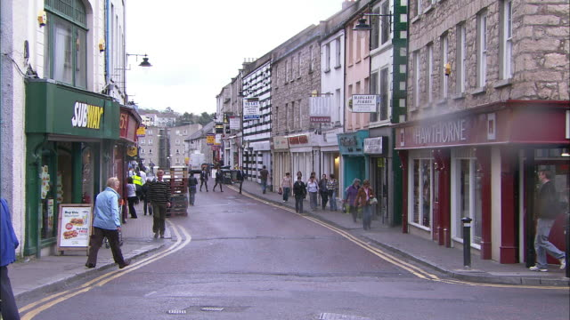 scotch street in armagh, northern ireland - county armagh stock videos and b-roll footage