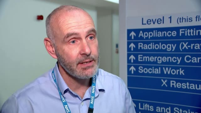 NHS Scotland Accident and Emergency waiting times miss target SCOTLAND North Lanarkshire Wishaw General Hospital FOCUS shots of hopital cleaners and...