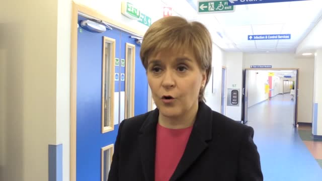 Scotland becomes the first country in the world to introduce a minimum unit price for alcohol Nicola Sturgeon visits the Edinburgh Royal Infirmary IV...