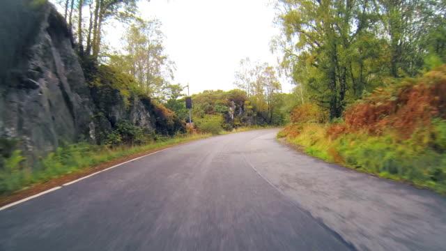 Scotland driving down hill