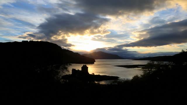 Scotland Eilean Donan Castle Loch Duich Highlands sunset coast