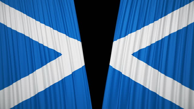 scotland flag curtain cloth - politics illustration stock videos & royalty-free footage