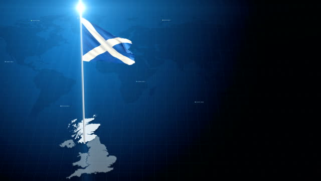 scotland flag - scotland stock videos & royalty-free footage