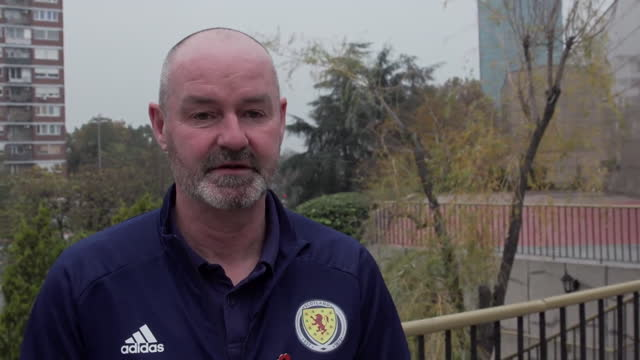 scotland manager steve clarke saying he got no sleep after the team qualified for euro 2020 - resting stock videos & royalty-free footage