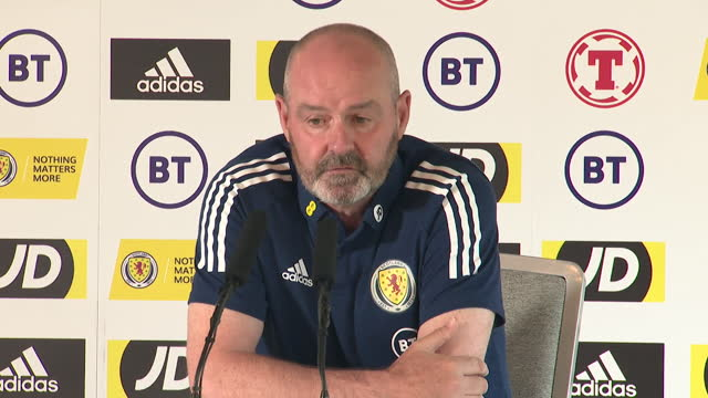 scotland manager steve clarke saying he respects england's talent, but that they are aiming to win - aspirations stock videos & royalty-free footage