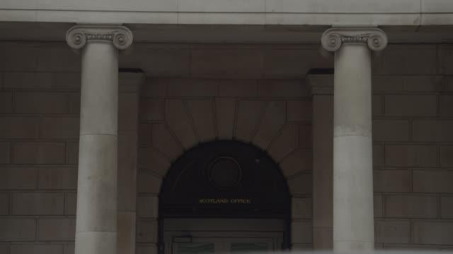cu scotland office entrance, whitehall, uk - politics stock videos & royalty-free footage