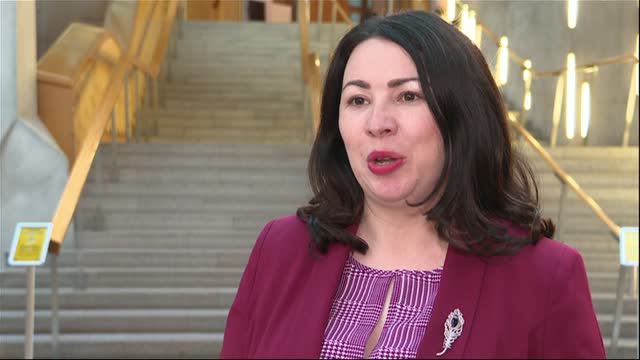 scotland passes legislation making period products freely available to all scotland int monica lennon msp interview sot - itv lunchtime news stock videos & royalty-free footage