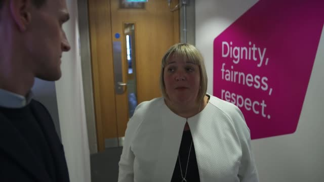 scotland rolls out alternative to universal credit uk social security scotland benefits staff working in office shirleyanne somerville msp and kirsty... - social security stock videos & royalty-free footage