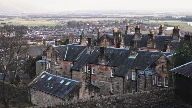 scotland rooftop landmark - 19th century style stock videos & royalty-free footage