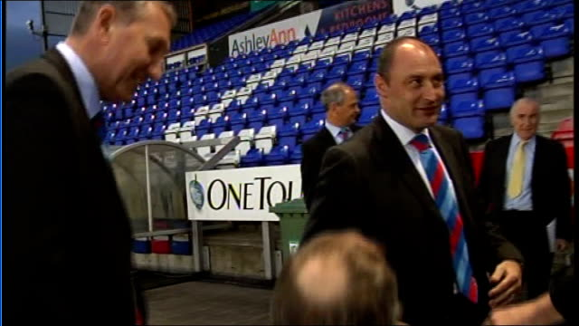 terry butcher new manager for inverness caledonian thistle; scotland: inverness: int * * beware flash photography * * terry butcher seated at press... - thistle stock videos & royalty-free footage