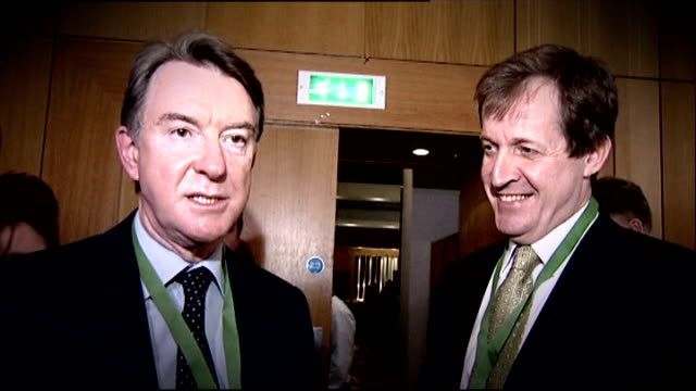 stockvideo's en b-roll-footage met scotland yard open news international computer hacking enquiry april 2010 int alastair campbell standing with peter mandelson following general... - peter mandelson