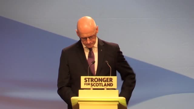 Scotland's Deputy First Minister John Swinney outlines the case for independence at the party's spring conference