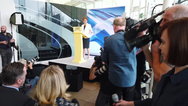scotland's first minister nicola sturgeon sets out the next steps in the snp's campaign for scottish independence in a speech to activists, elected... - member of the scottish parliament stock videos & royalty-free footage