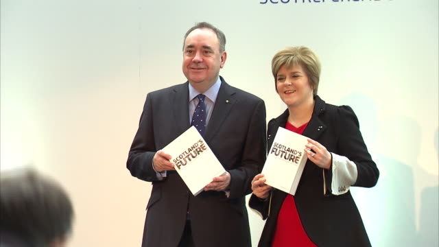 scotland's former first minister alex salmond has won his legal challenge against the scottish government over the way it investigated two complaints... - nicola sturgeon stock videos & royalty-free footage