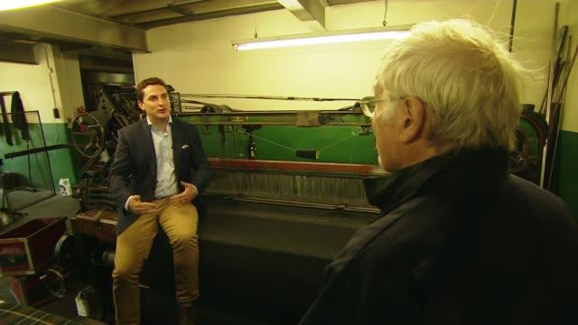 scotland's oldest tartan weaver hoping to keep traditional methods alive scotland selkirk int various of rob beaton weaving tartan cloth on... - weaving stock videos & royalty-free footage