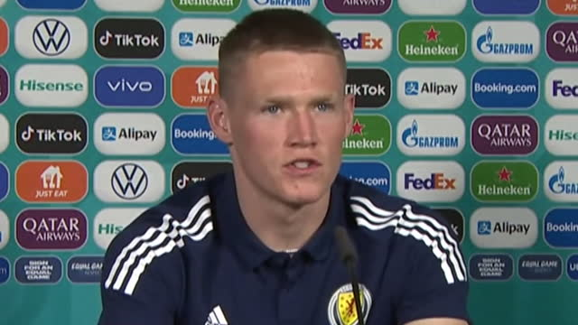 scotland's scott mctominay saying the squad have a level of self-belief going into the euro 2020 game against england - determination stock videos & royalty-free footage