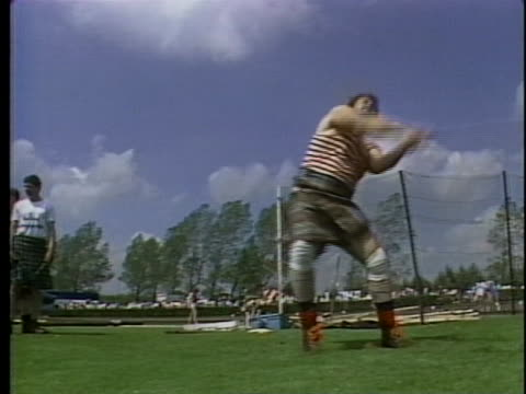 scots take part in the highland games. - scottish culture stock videos & royalty-free footage