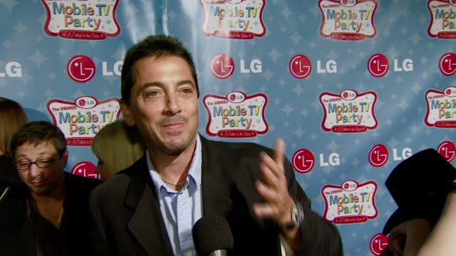Scott Baio on the LG phone and his new reality show on VH1 at the LG Mobile Phones Introduces the Future of TV at LG's Mobile TV Party at Paramount...