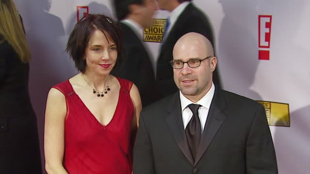 scott burns and guest at the broadcast film critics association's 2007 critic's choice awards at santa monica civic auditorium in santa monica... - broadcast film critics association stock videos & royalty-free footage