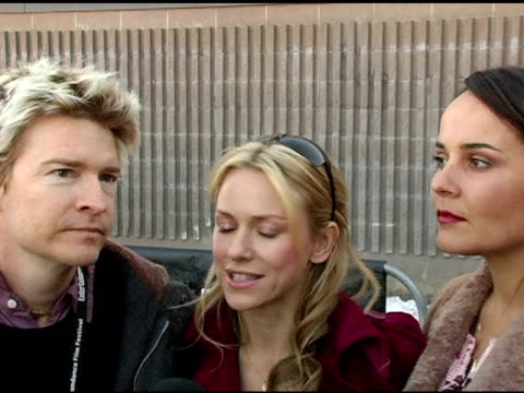 Scott Coffey Naomi Watts and Rebecca Rigg at the 2005 Sundance Film Festival 'Ellie Parker' Premiere at the Racket Club Theater in Park City Utah on...