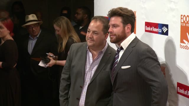 scott conant and josh capon at food bank for new york city can do awards dinner gala at cipriani wall street on april 21 2015 in new york city - cipriani wall street stock videos & royalty-free footage