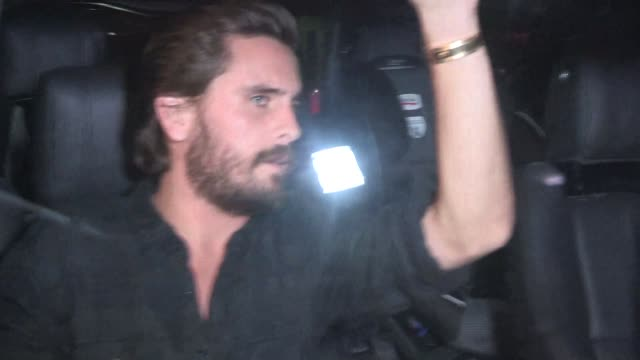 Scott Disick storms past paparazzi after meeting Kourtney Kardashian earlier in the day at Mr Chow in West Hollywood in Celebrity Sightings in Los...