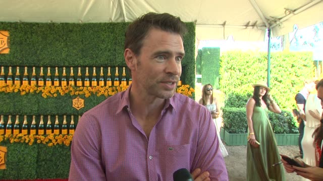 INTERVIEW Scott Foley on being at the event on their polo style and on Halloween plans at the SixthAnnual Veuve Clicquot Polo Classic Los Angeles at...