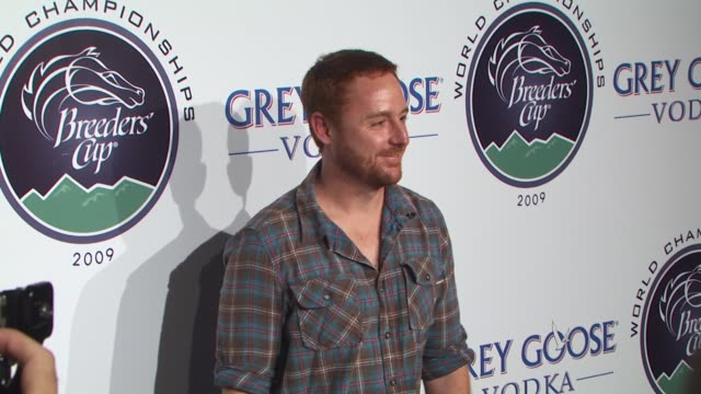 scott grimes at the breeders' cup winners circle sponsored by grey goose vodka at los angeles ca - grey goose vodka stock videos & royalty-free footage