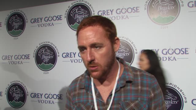 scott grimes on performing with the band from tv if he's a fan of horse racing how he feels about supporting espn's v foundation what passion... - grey goose vodka stock videos & royalty-free footage