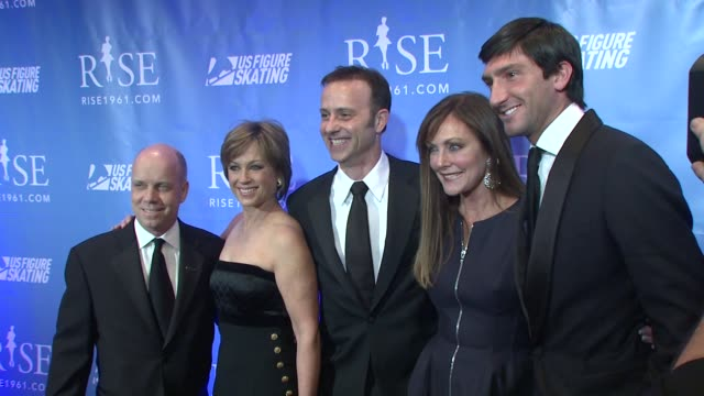 Scott Hamilton Dorothy Hamill Brian Boitano Peggy Fleming and Evan Lysacek at the 'RISE' New York Premiere at New York NY