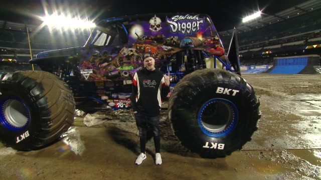Scott Hoying at Monster Jam Celebrity Event at Angel Stadium on January 12 2019 in Anaheim California