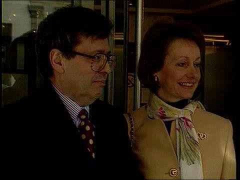 paul henderson evidence; cms lord trefgarne posing with wife, lady trefgarne for photocall - paul henderson stock videos & royalty-free footage