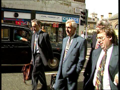 paul henderson evidence; england: london cms paul henderson along street track back - paul henderson stock videos & royalty-free footage