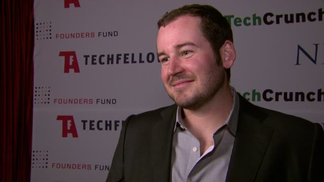 scott marlette on using his winnings at techfellow awards 2012 in san francisco ca on 2/22/2012 - winnings stock videos and b-roll footage