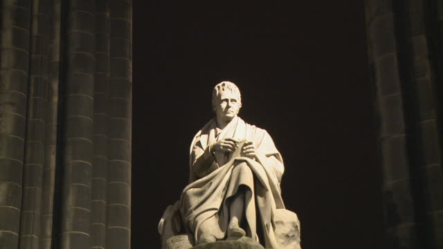 cu, tu, scott monument at night, edinburgh, scotland, united kingdom - gothic stock videos & royalty-free footage