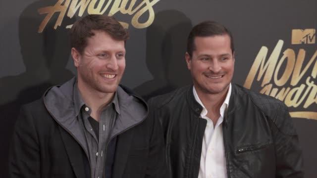 H Scott Salinas and Matthew Heineman at the 2016 MTV Movie Awards at Warner Bros Studios on April 9 2016 in Burbank California