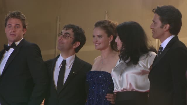 Scott Speedman Atom Egoyan and Rachel Blanchard at the Cannes arrivals for Adoration in Cannes on May 22 2008