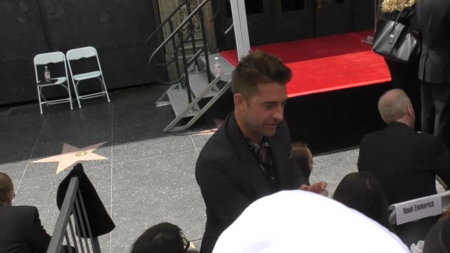 Scott Speedman greets fans outside the Keri Russell Hollywood Walk Of Fame star ceremony in Hollywood in Celebrity Sightings in Los Angeles