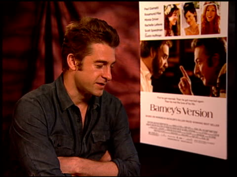 Scott Speedman on the book and if he was familiar with it at the 'Barney's Version' Junket at Los Angeles CA