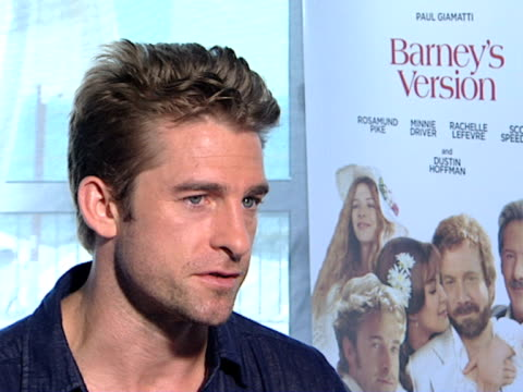Scott Speedman on the film being at Venice at the Barney's Version Interviews 67th Venice Film Festival at Venice