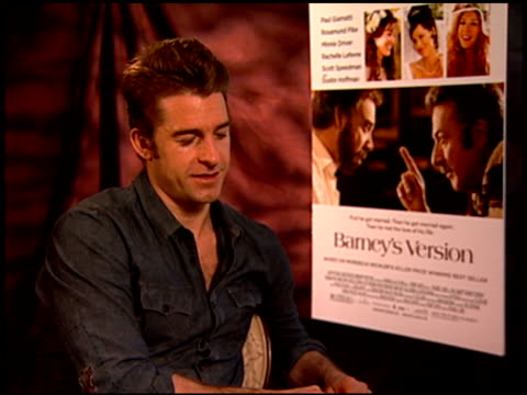 Scott Speedman on what his dream role would be at the 'Barney's Version' Junket at Los Angeles CA