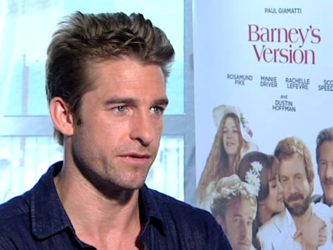 Scott Speedman preparing for the role and working with Paul Giamatti and Dustin Hoffman at the Barney's Version Interviews 67th Venice Film Festival...