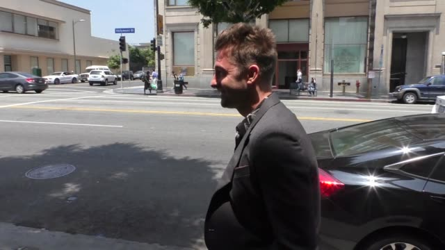 INTERVIEW Scott Speedman talks about Keri Russell's show The Americans outside Katsuya Restaurant in Hollywood in Celebrity Sightings in Los Angeles