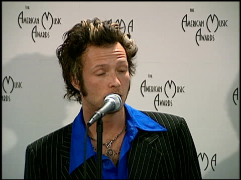 Scott Weiland at the American Music Awards at the Shrine Auditorium in Los Angeles California on January 27 1997