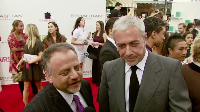 scott wittman and mark shaiman at the 'hairspray' los angeles premiere at the mann village theatre in westwood, california on july 10, 2007. - regency village theater stock videos & royalty-free footage