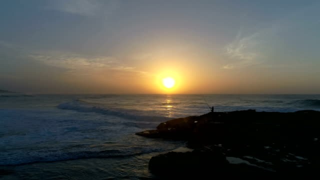AERIAL Scottburgh coastline during sunset/ South Africa
