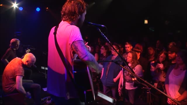 scottish band biffy clyro brought their rock sound to the jbtv stage with an acoustic set listen to them play their song 'biblical' - religious illustration stock videos and b-roll footage