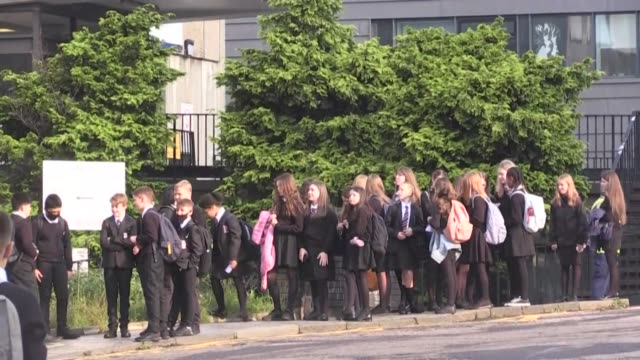 scottish children go back to school for the first time in five months as leaders across britain try to kickstart a return to education despite a... - occurrence stock videos & royalty-free footage