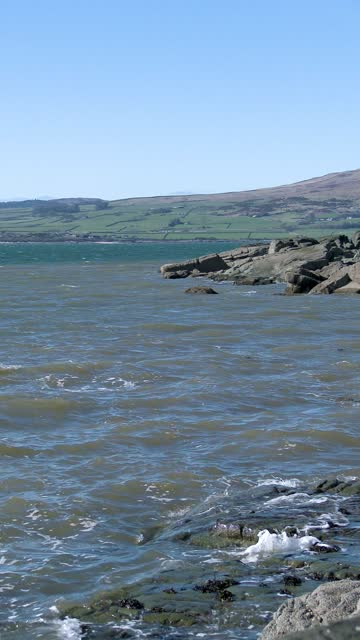 scottish coastline on a bright spring afternoon - general view stock videos & royalty-free footage