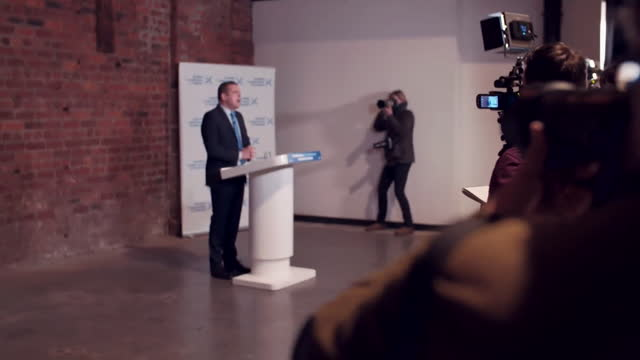 scottish conservative leader douglas ross launching the party's scottish election manifesto in glasgow - conservative party uk stock videos & royalty-free footage